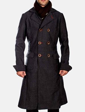 Detective Wool Peacoat