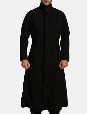 Mens Dane Shadow Black Long Coat