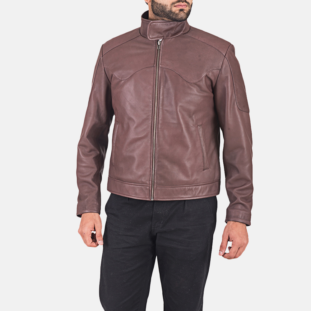 Clayton Brown Leather Jacket  1