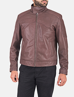 Clayton Brown Leather Jacket