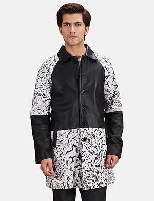 Mens Artistry Black Dye Leather Coat