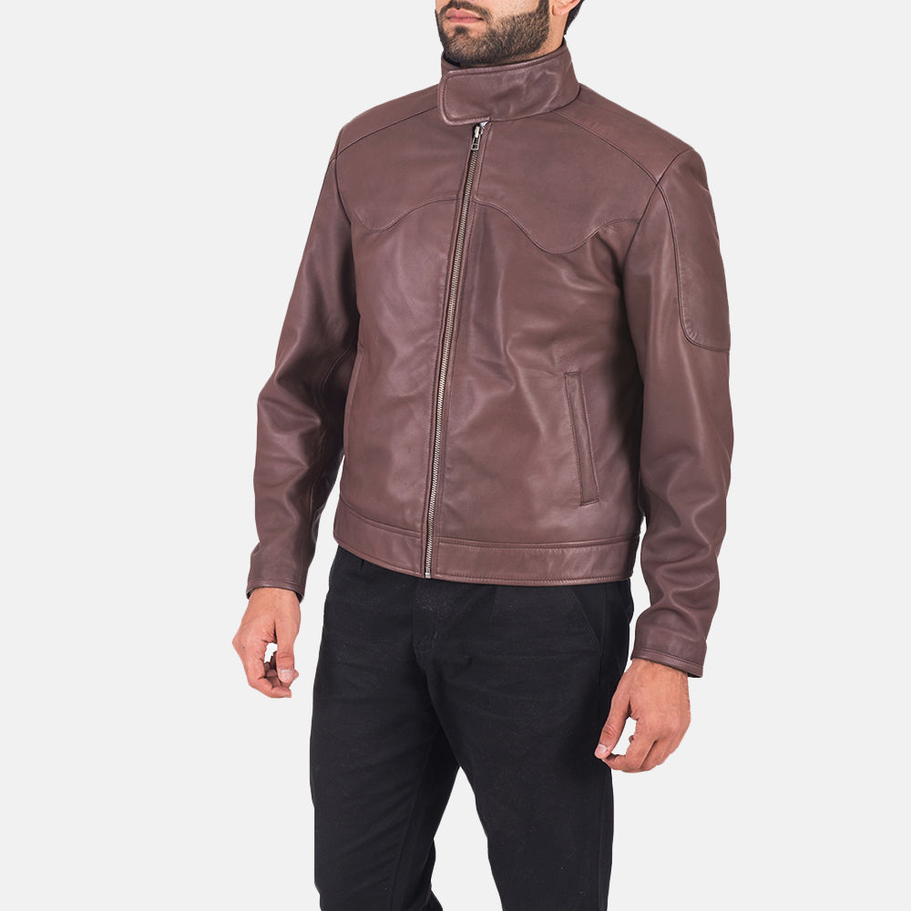 Clayton Brown Leather Jacket  2