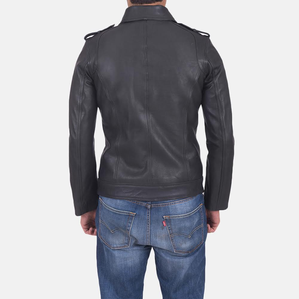 Men's Sergeant Black Leather Jacket 3