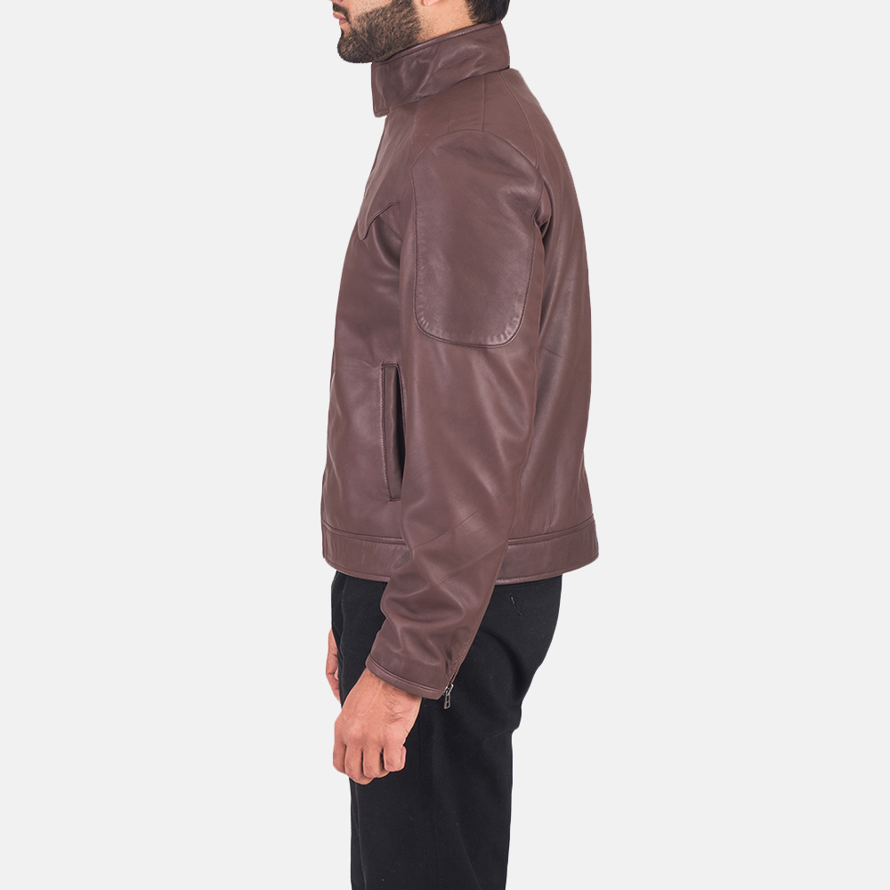 Clayton Brown Leather Jacket  4