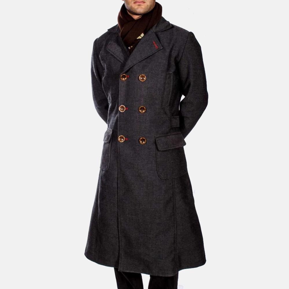 Mens Detective Wool Peacoat 5