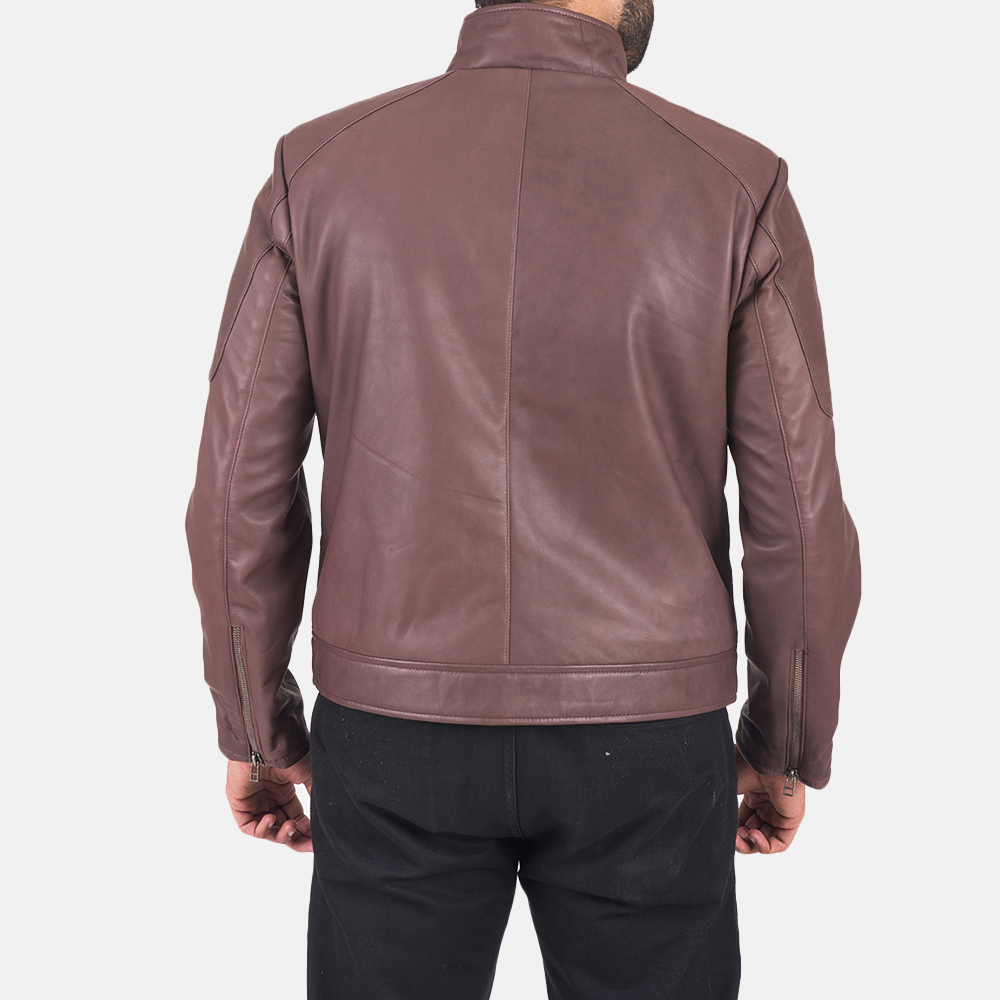 Clayton Brown Leather Jacket  4