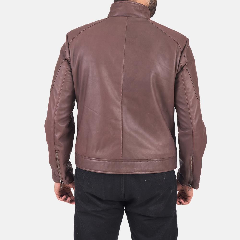 Clayton Brown Leather Jacket  5