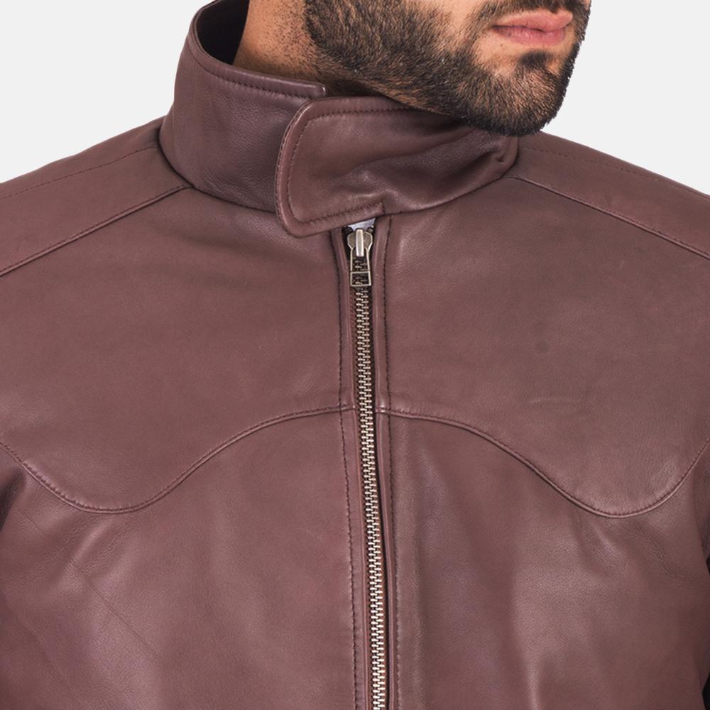 Clayton Brown Leather Jacket  6