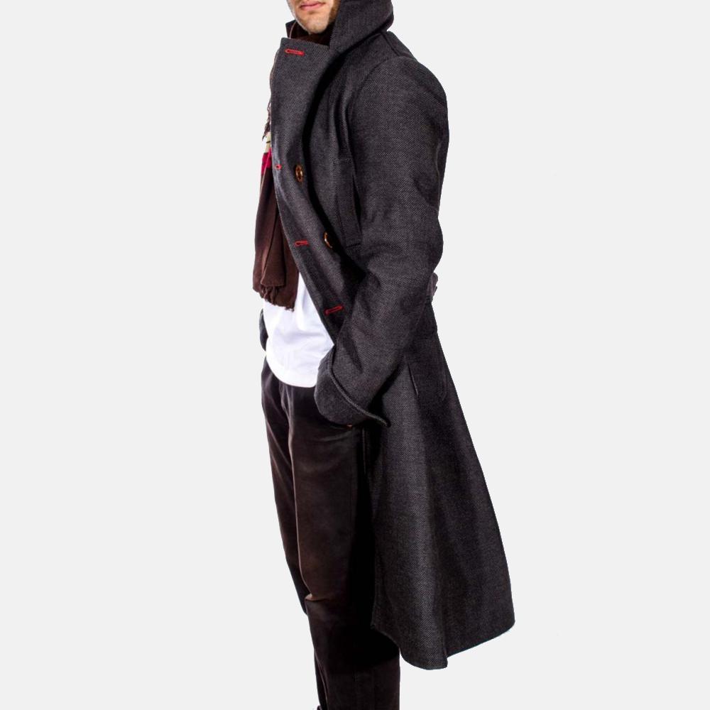 Mens Detective Wool Peacoat 7