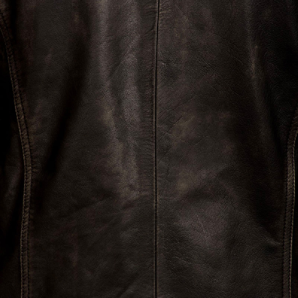 Mens Reckless Black Leather Biker Jacket 6