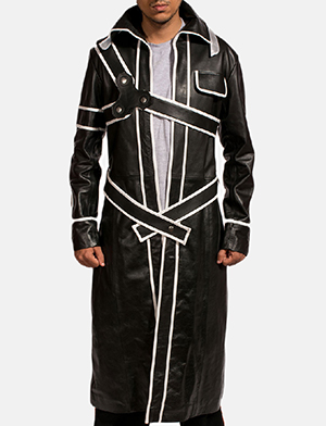 Mens Swordsman Leather Coat