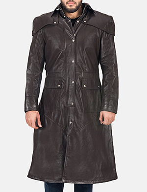Men's Alexander Brown Leather Duster
