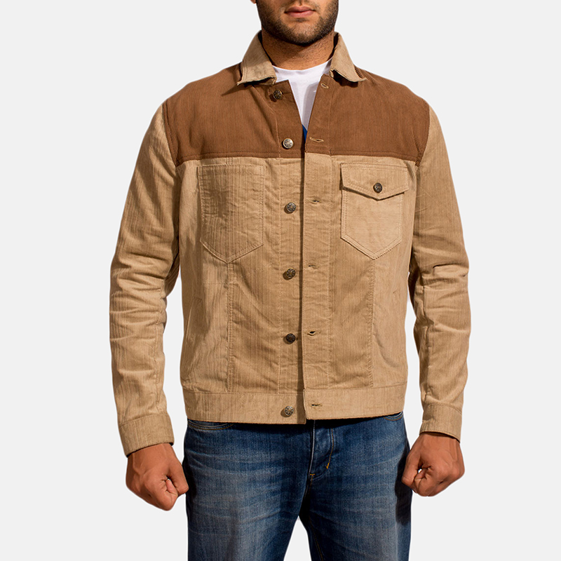 Mens Creme Chen Brown Jacket 6