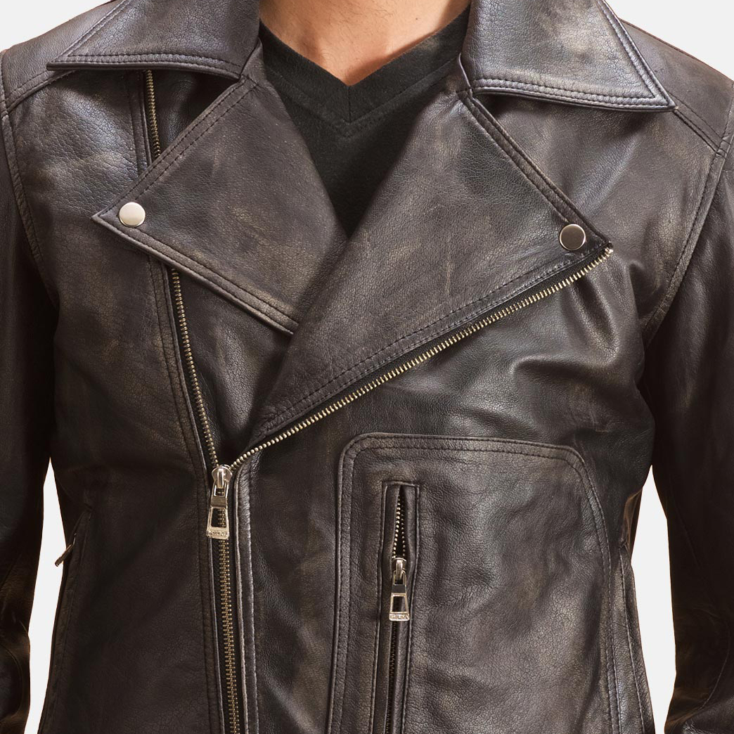 Oliver Basic Buckled Leather Biker Jacket 5