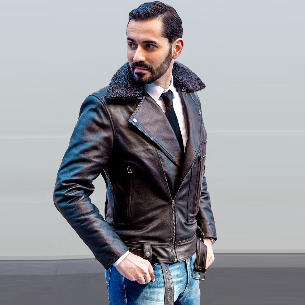 Black%20biker%20fur%20jacket%20custom 1523871819200
