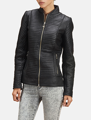 Black quilted bomber jacket zoom 2 a 1491411354743