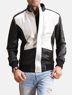Black silver patch bomber jacket zoom 2 1491404035151