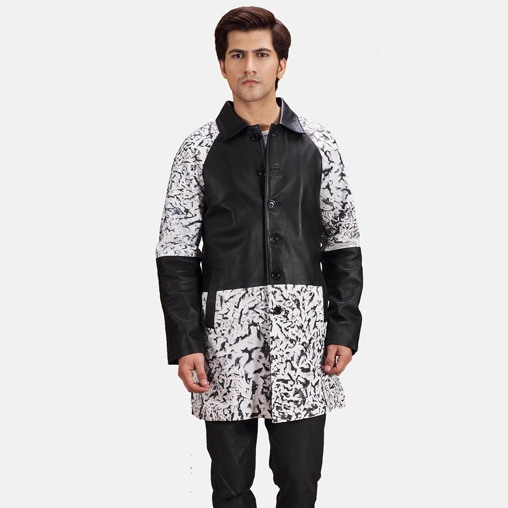 Mens Artistry Black Dye Leather Coat 2