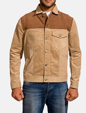 Mens Creme Chen Brown Jacket