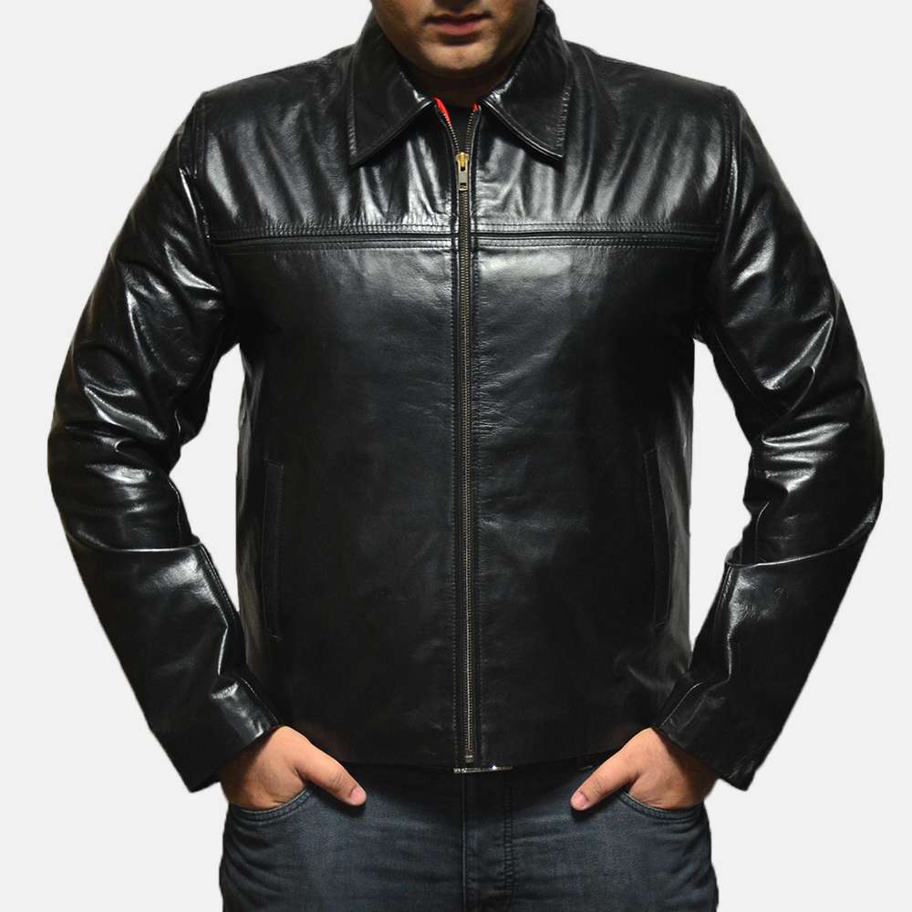 Mens Mystical Black Leather Jacket 1