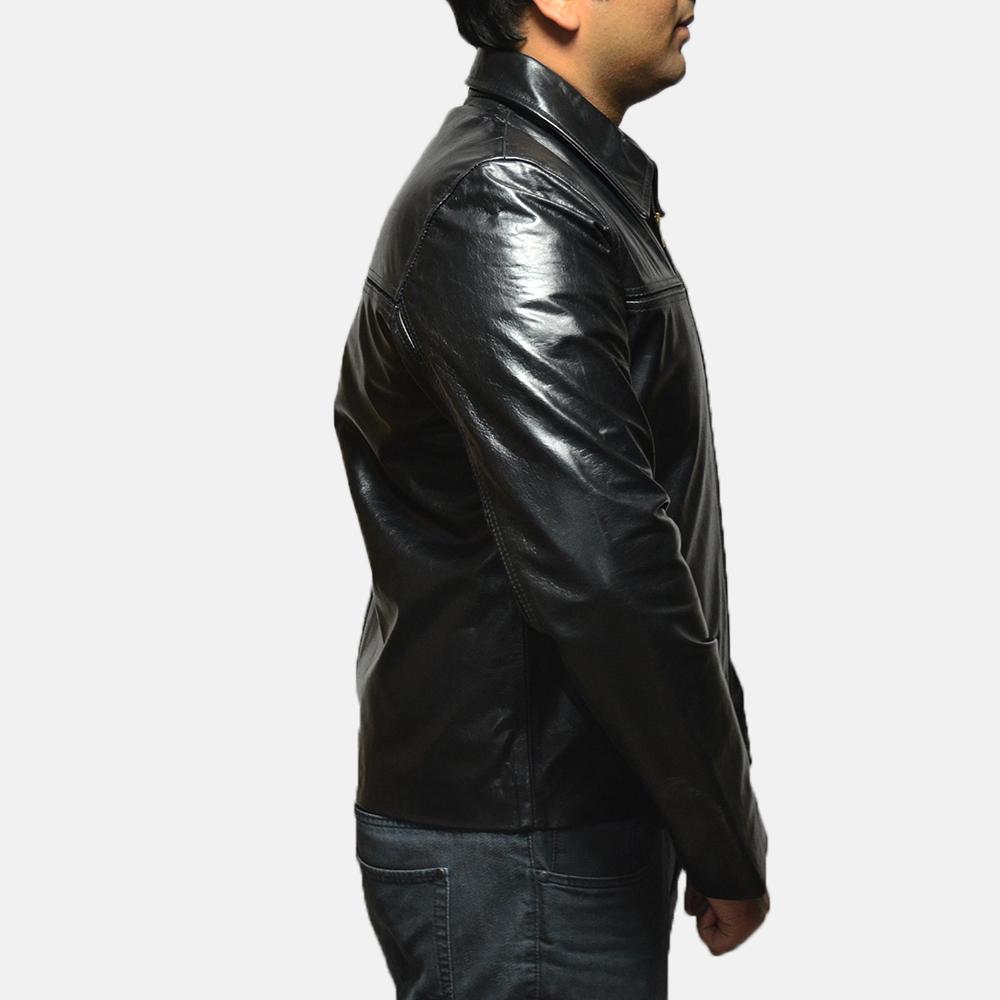 Mens Mystical Black Leather Jacket 3
