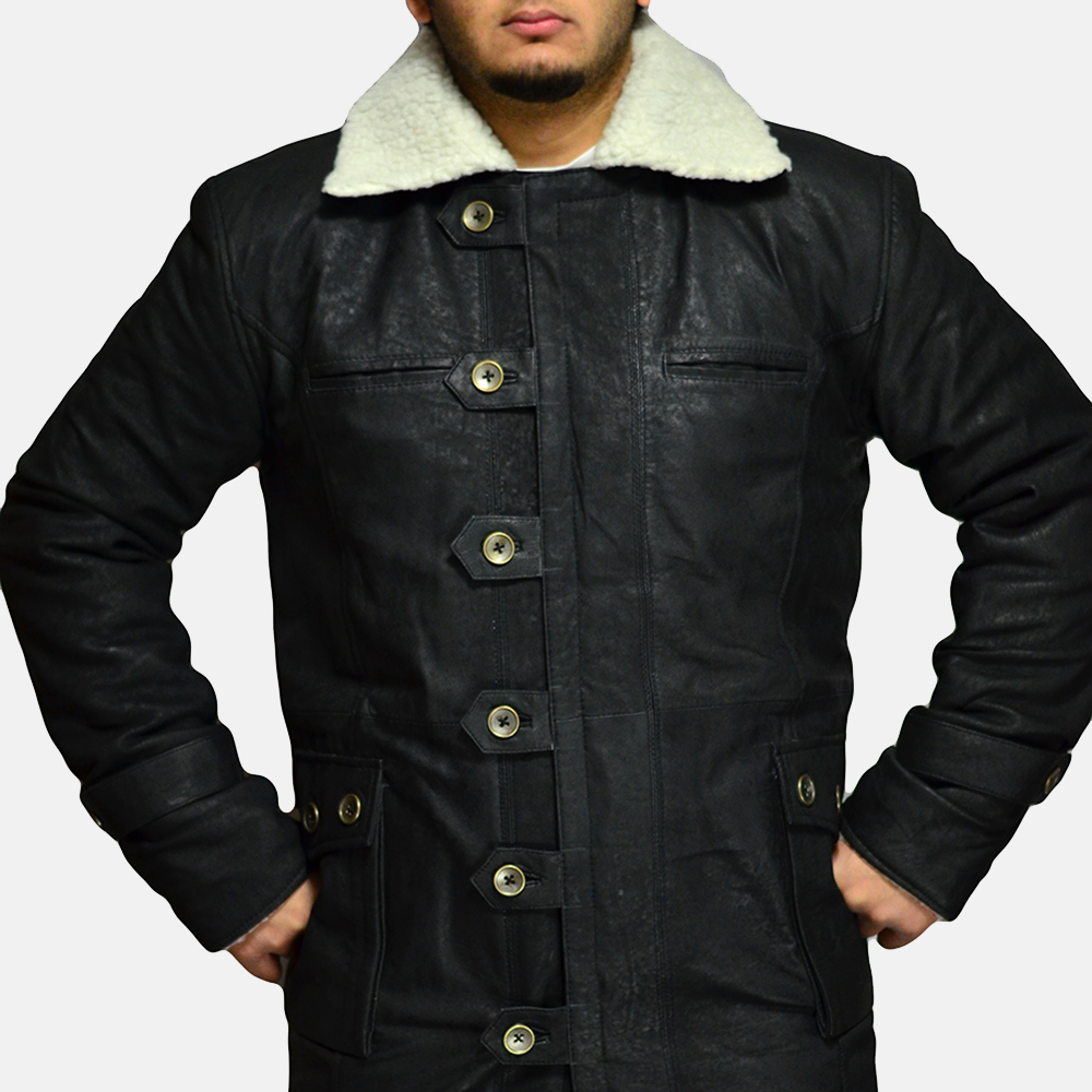 Mens Storm Nite Black Suede Coat 2