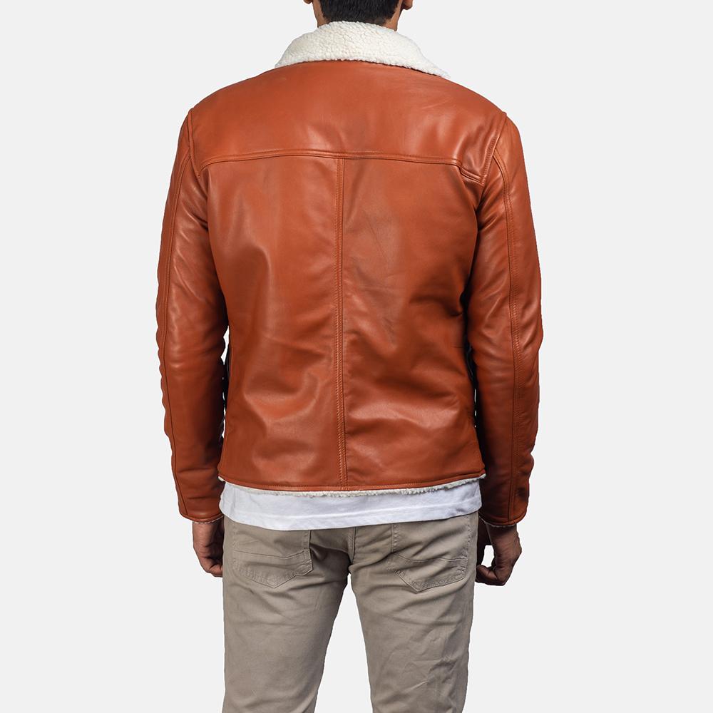 Mens Dan Frost Tan Shearling Jacket 4