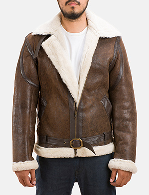 Mens Forest Double Face Shearling Jacket