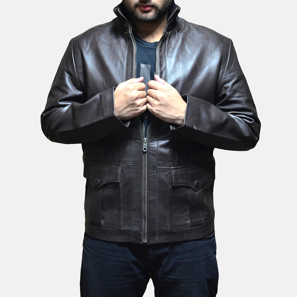 Mens Royale Brown Leather Jacket 1
