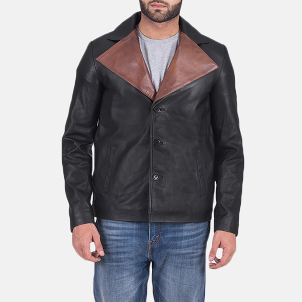 Men's Jaxon Black Leather Jacket 1