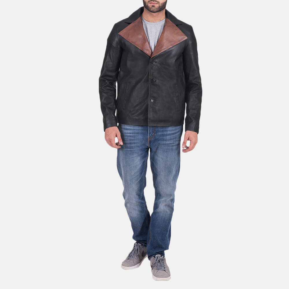 Men's Jaxon Black Leather Jacket 2