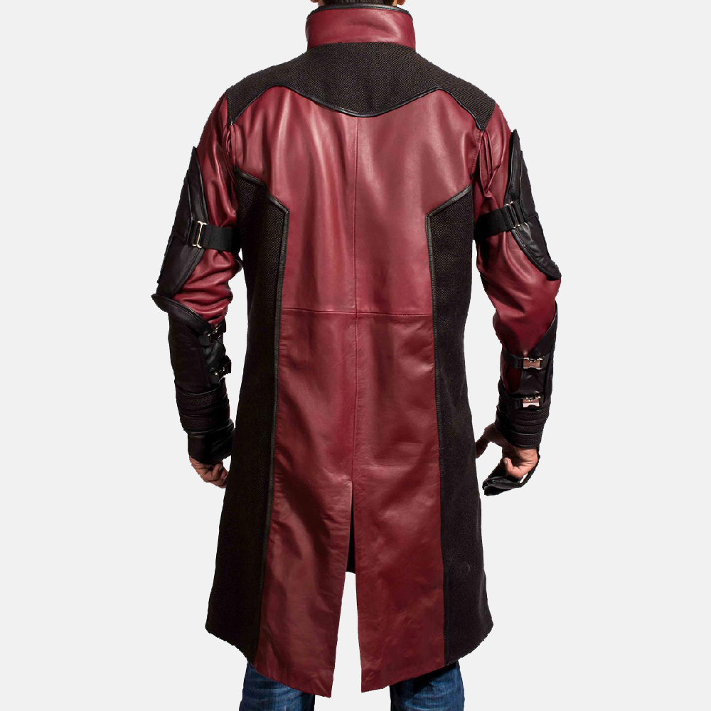 Mens Archer Leather Coat 6