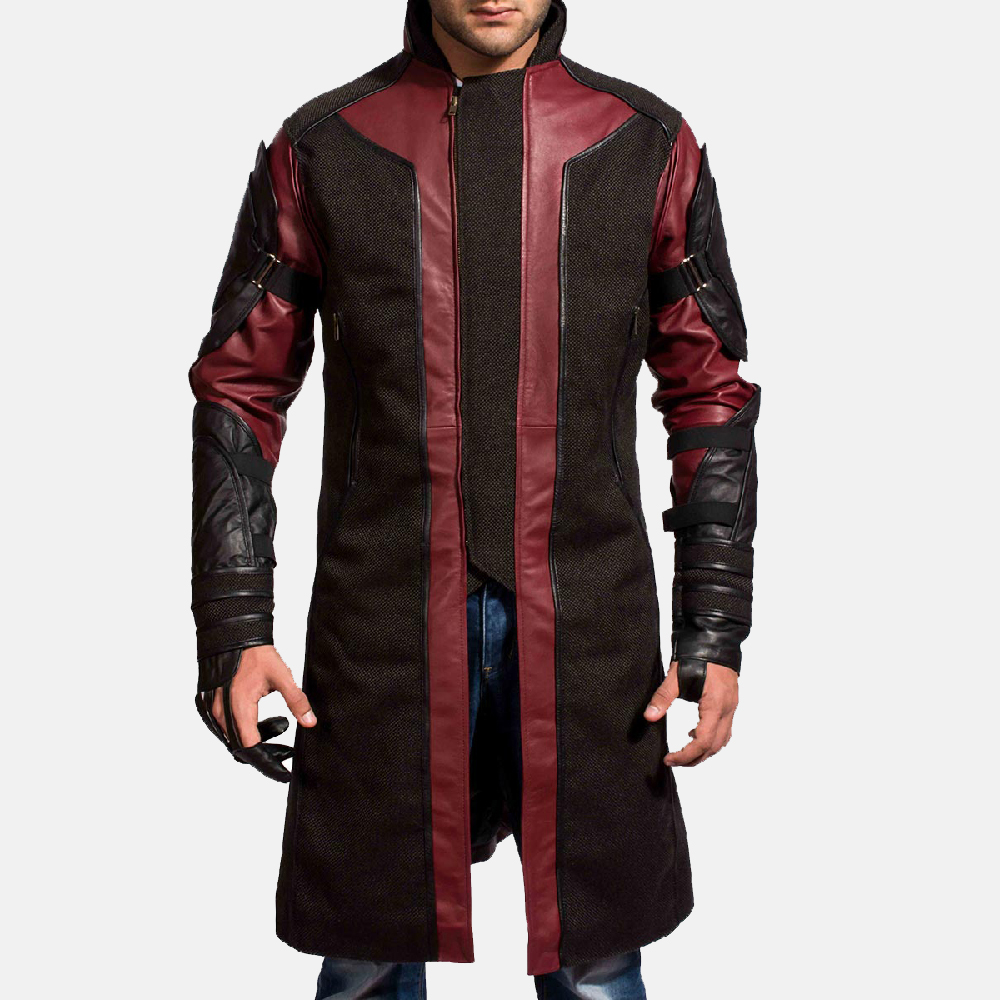 Mens Archer Leather Coat 2