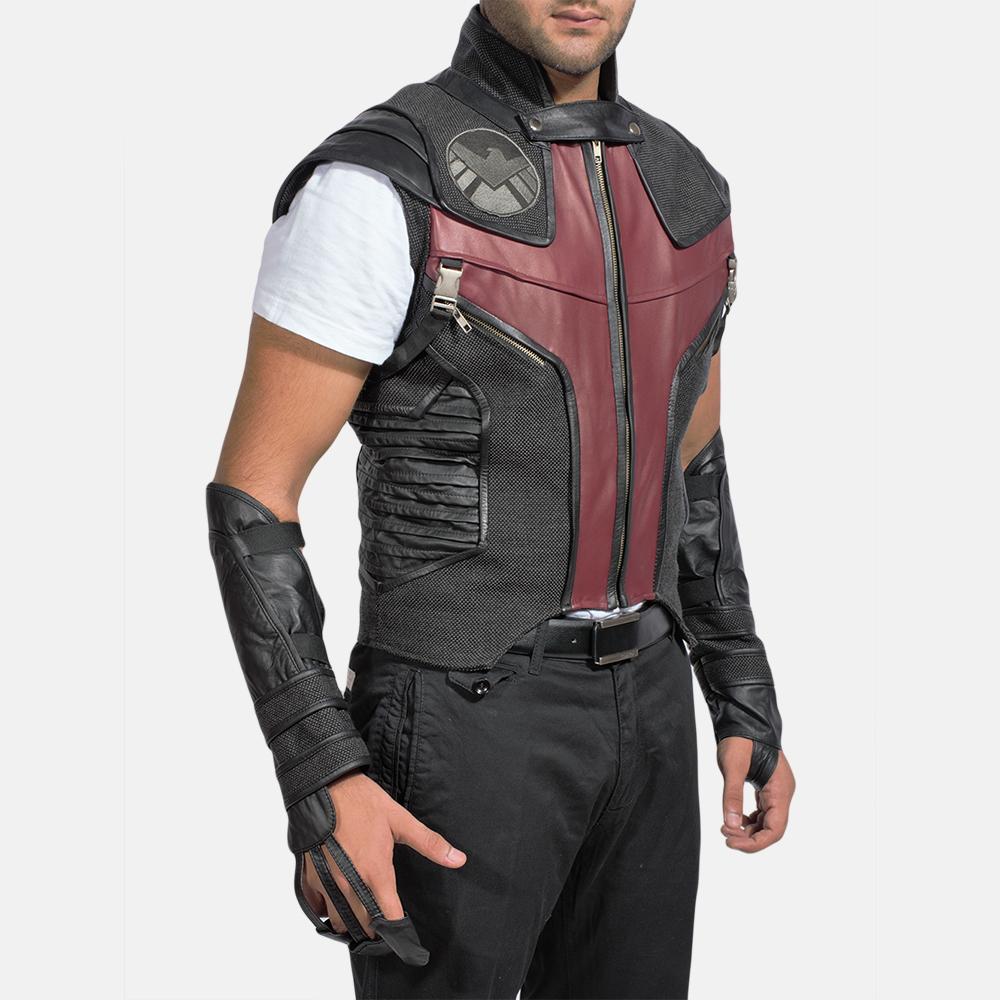 Mens Archer Leather Vest 2