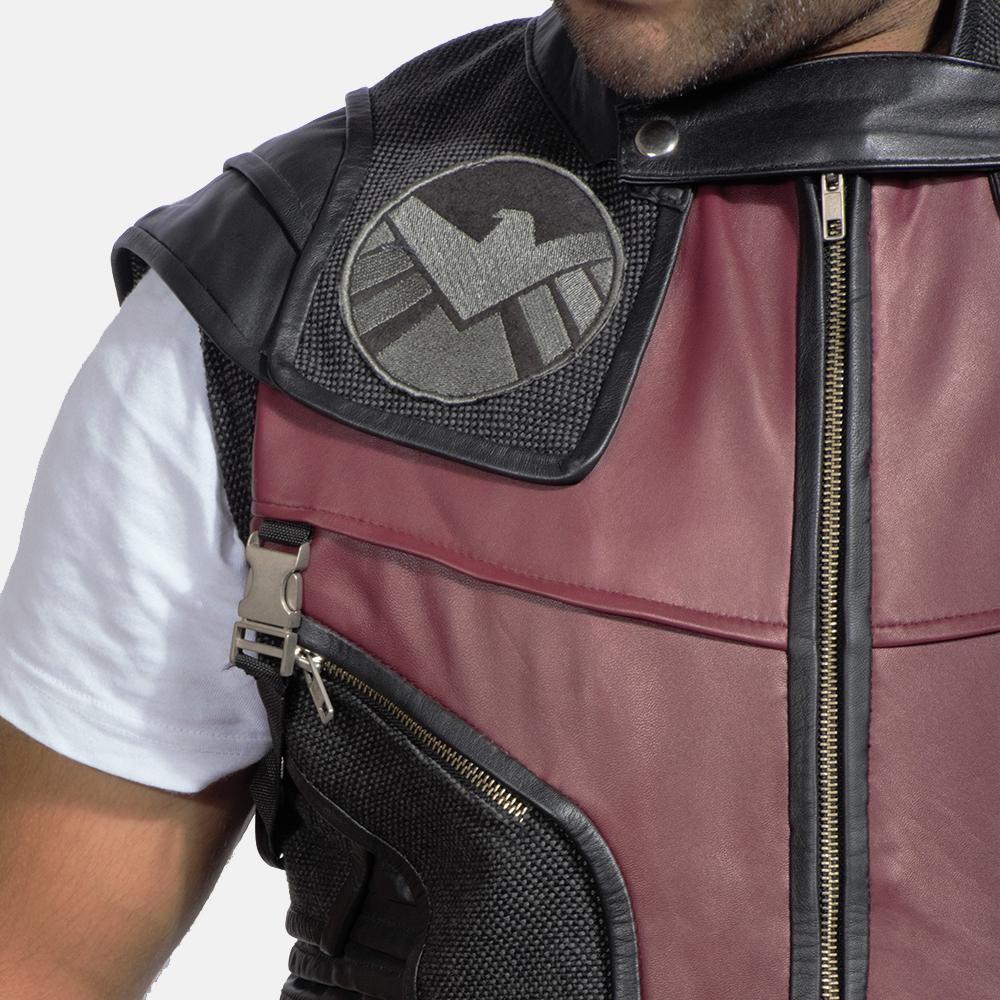 Mens Archer Leather Vest 3