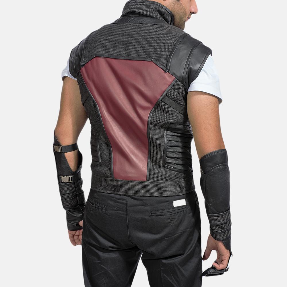 Mens Archer Leather Vest 4