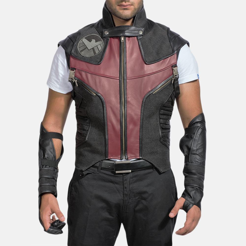 Mens Archer Leather Vest 1
