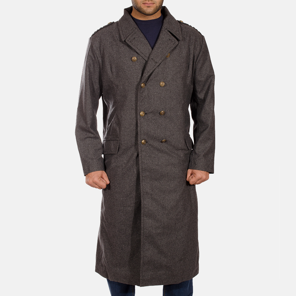 Mens Ashville Wool Peacoat 1