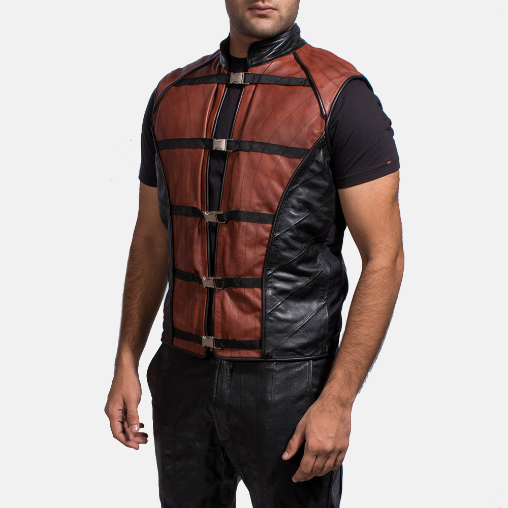 Mens Bonfire Leather Vest 2