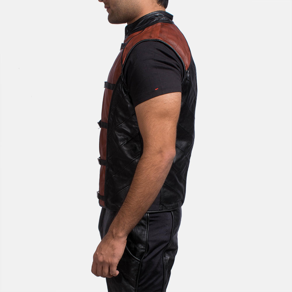 Mens Bonfire Leather Vest 3