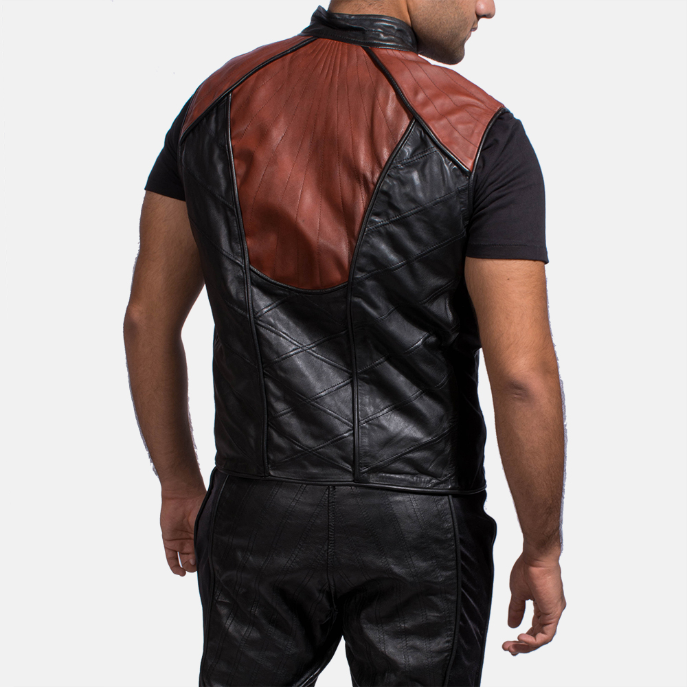 Mens Bonfire Leather Vest 4