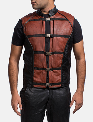 Mens Bonfire Leather Vest