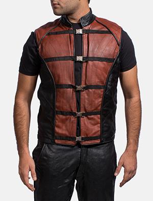 Mens Bonfire Leather Vest