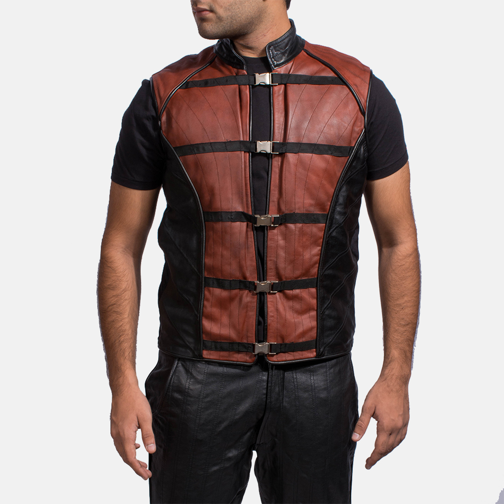 Mens Bonfire Leather Vest 1