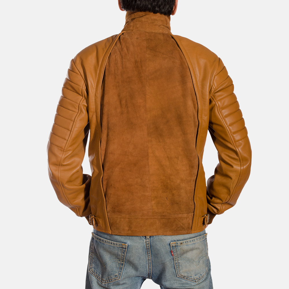 Mens Camelleo Brown Leather Jacket 4
