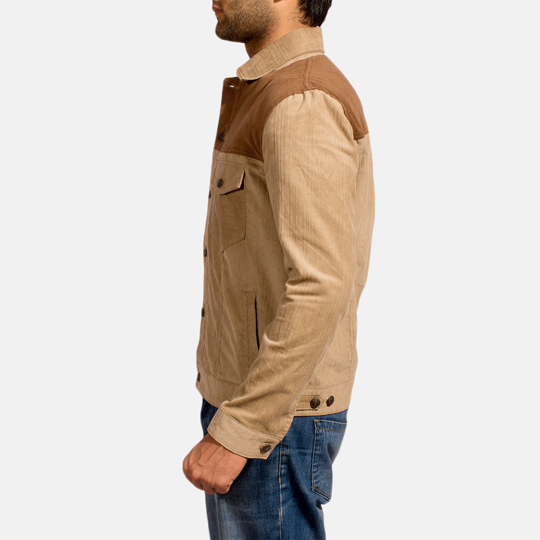 Mens Creme Chen Brown Jacket 3
