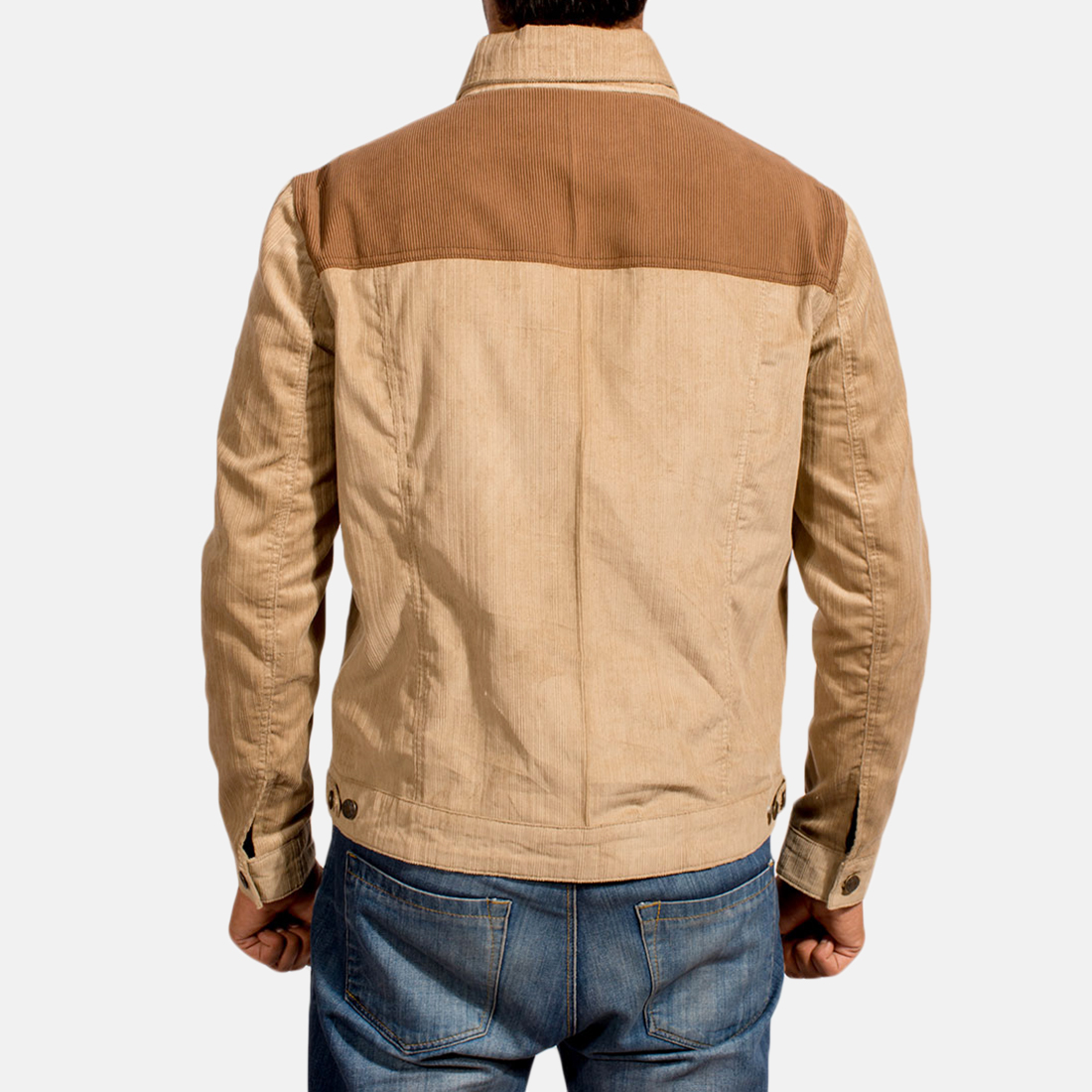 Mens Creme Chen Brown Jacket 4