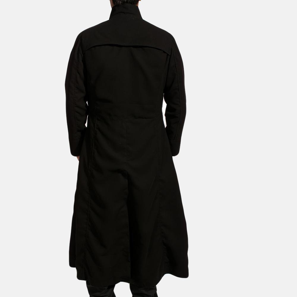 Mens Dane Shadow Black Long Coat 4