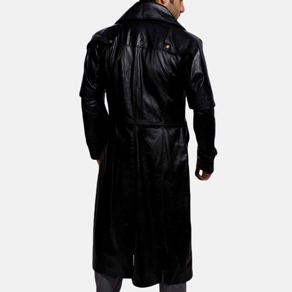 Mens Desperado Black Leather Coat & Vest 4