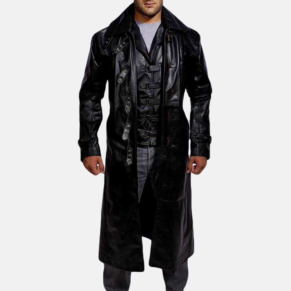 Mens Desperado Black Leather Coat & Vest